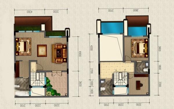 双拼三层小户型联排别墅设计图展示