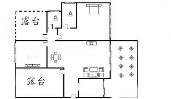 融汇半岛香缇漫山 户型图2室2厅1卫1厨2.jpg